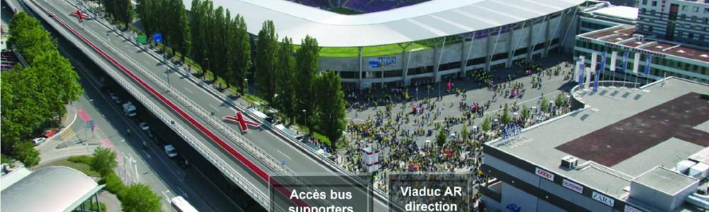 schéma accès stade