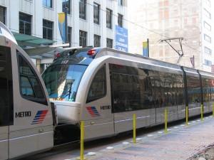 Tramway dans la ville