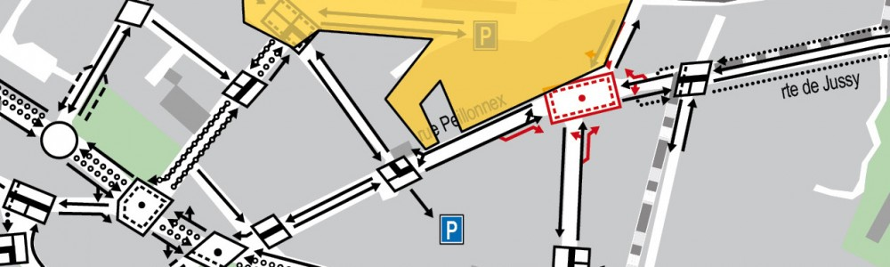 Plan des voies Chêne-Bourg
