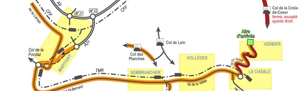 Schéma d'accès Verbier_Tour de France