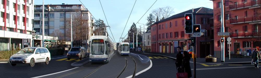 Photomontage tram Bernex