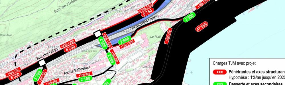 Carichi di traffico TGM 2020 con progetto